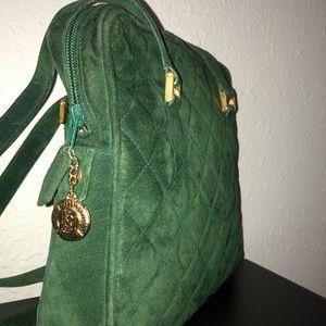 Authentic Yves Saint Laurent Suede shoulder bag